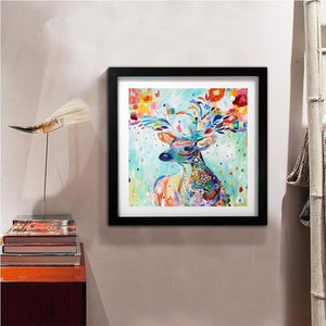 5D DIY Diamond Painting Kits Cartoon Dream Flower Deer - 3