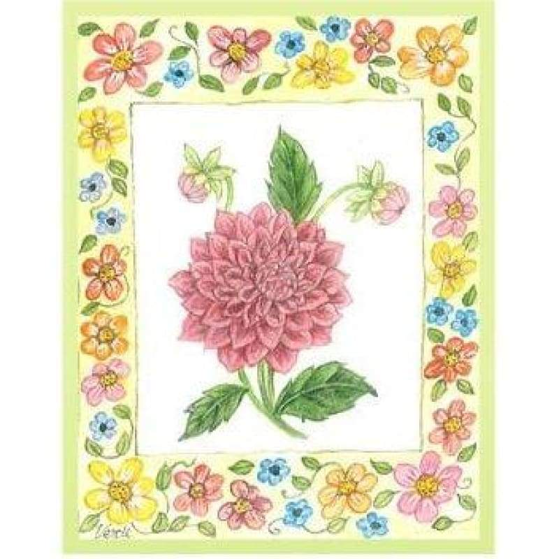 Small Floral Frame - NEEDLEWORK KITS