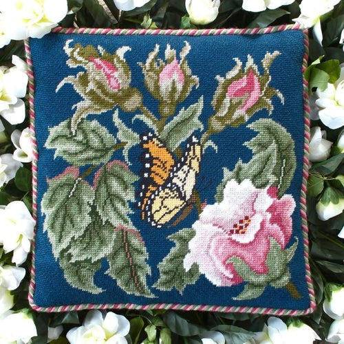 Butterfly (Blue) - Tapestry And Needlepoint