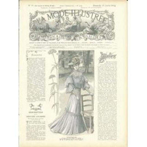 Vintage Print Lady 7 - Embroidery Patterns