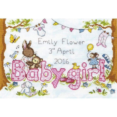 Bunny Love - Girl - NEEDLEWORK KITS