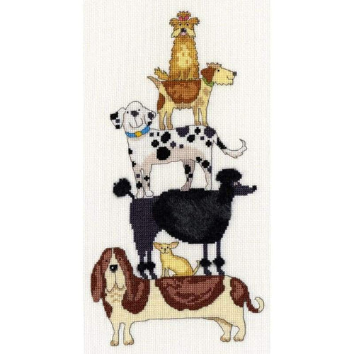 Dog Stack - Cross Stitch