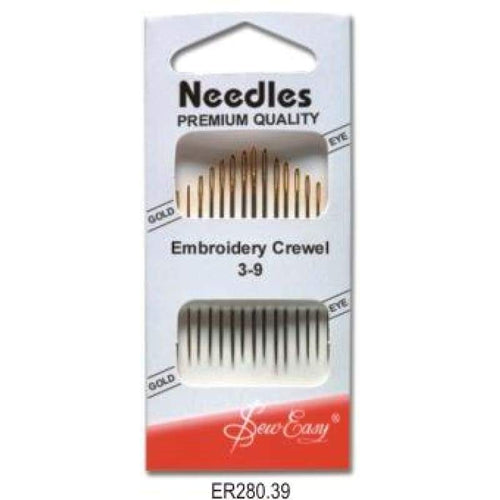 Hangsell Embroidery Needle Size 3-9 Gold Eye - Accessories