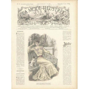 Vintage Print Lady 8 - NEEDLEWORK KITS