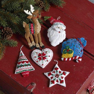 Nordic Santa Ornamental Set - NEEDLEWORK KITS