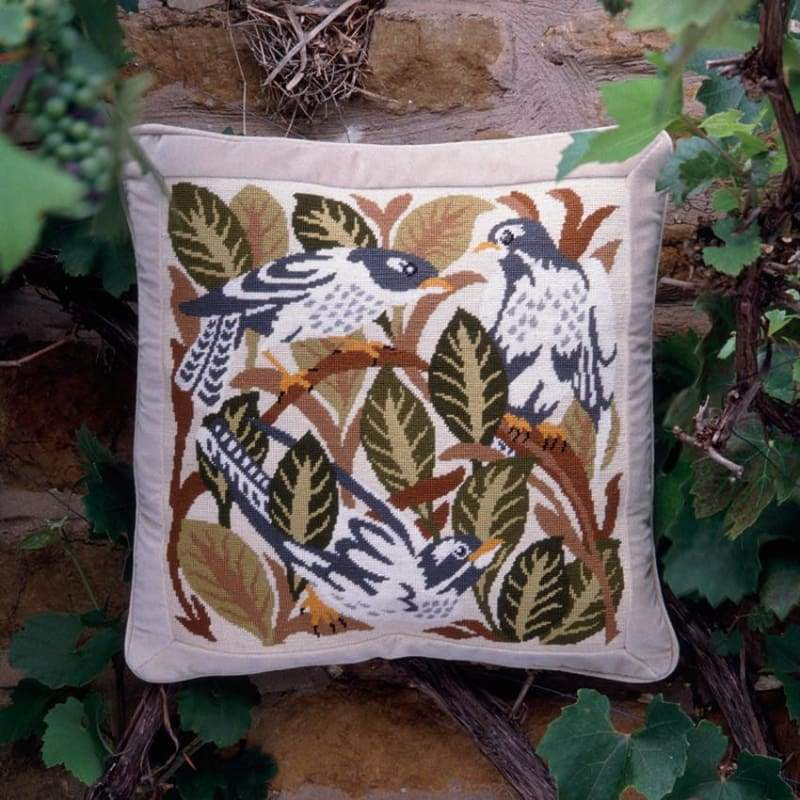 Magpies (Green Leaves) - Tapestry And Needlepoint
