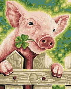 Pig Diy Paint By Numbers Kits ZXB261 - NEEDLEWORK KITS