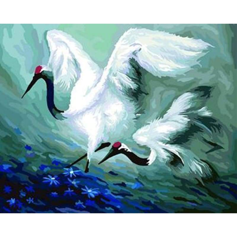 Animal Crane Diy Paint By Numbers Kits ZXB299 - NEEDLEWORK KITS