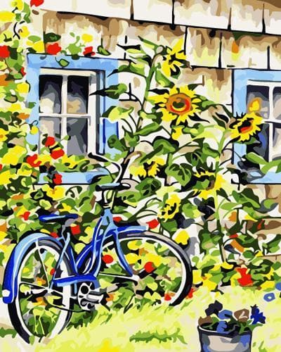 Bicycle Diy Paint By Numbers Kits ZXB546 - NEEDLEWORK KITS