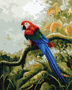 Parrot Diy Paint By Numbers Kits ZXB825 - NEEDLEWORK KITS