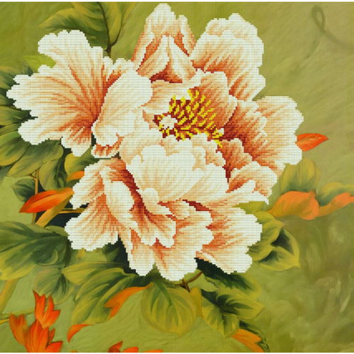 Blooming Peony 1 - Stamped Cross Stitch Kits