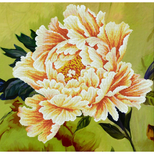 Blooming Peony 2 - Stamped Cross Stitch Kits