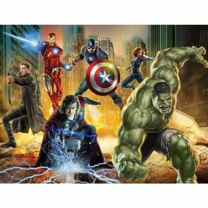 Cartoon Action Heros Disney - Full Drill Diamond Painting