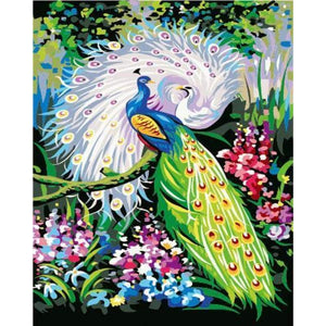 Animal Peacock Diy Paint By Numbers Kits ZXE266 - NEEDLEWORK KITS