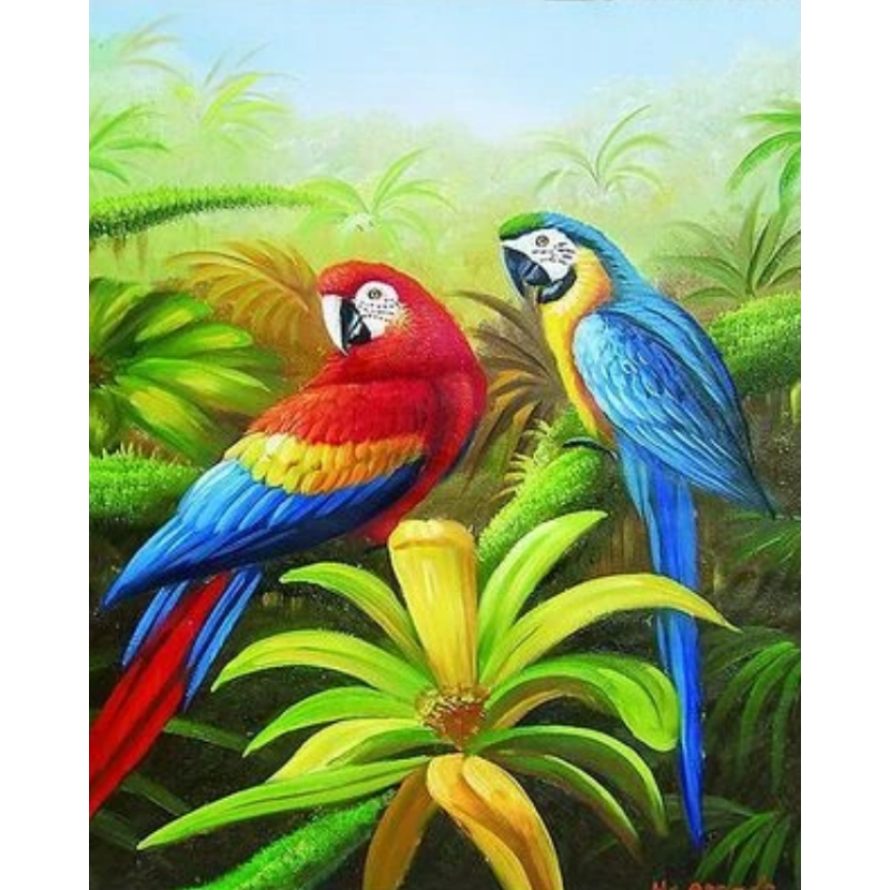 Parrot Diy Paint By Numbers Kits ZXQ2252 - NEEDLEWORK KITS