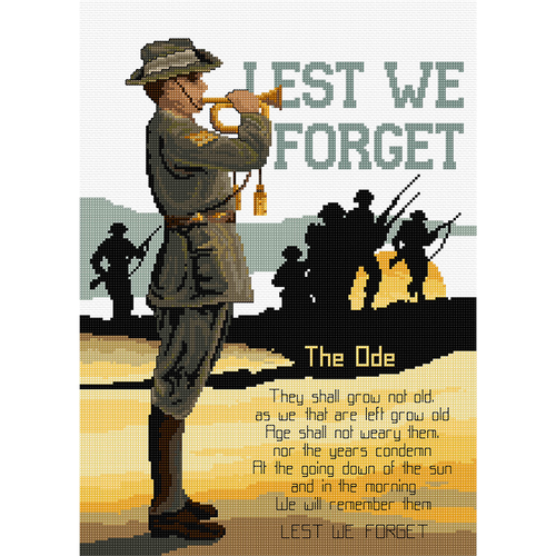 Lest We Forget - ANZAC - NEEDLEWORK KITS