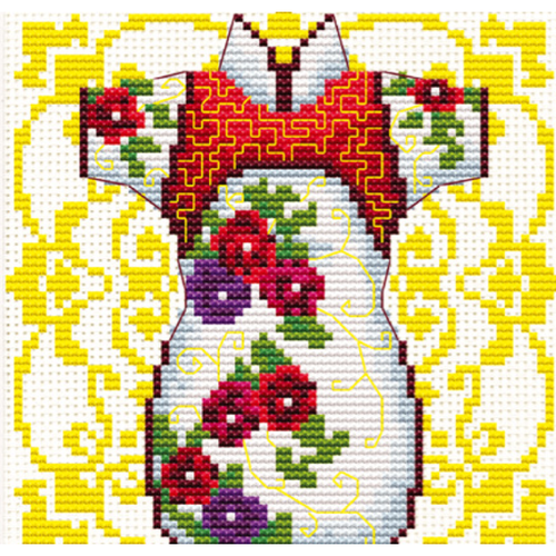 Female Geisha Rose - Stamped Cross Stitch Kits