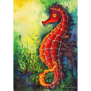Seahorse Diy Paint By Numbers Kits QFA90068 - NEEDLEWORK KITS