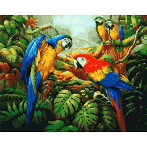 Parrot Diy Paint By Numbers Kits ZXQ1078 - NEEDLEWORK KITS