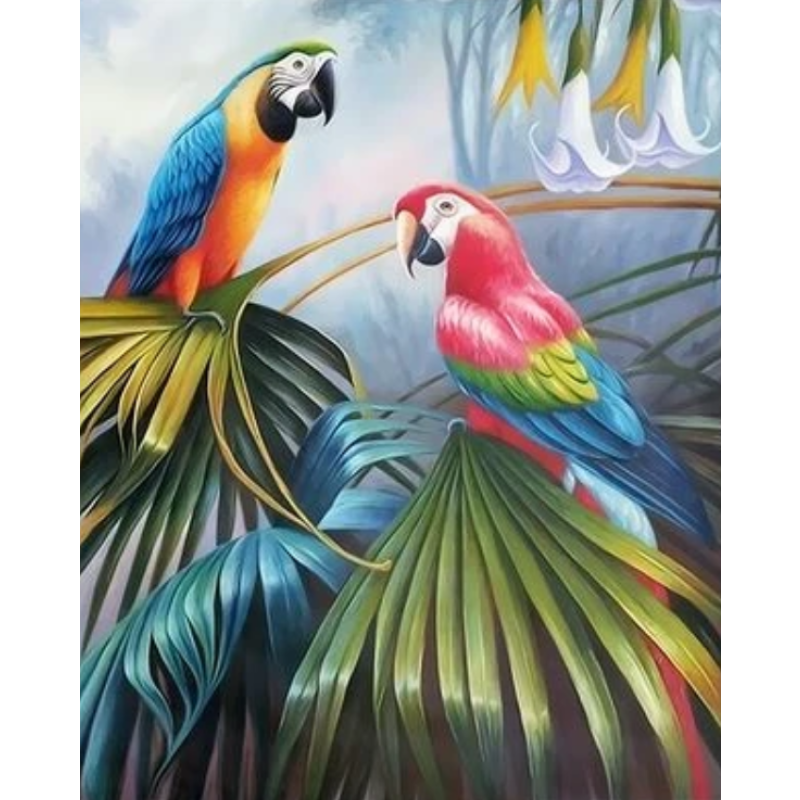 Parrot Diy Paint By Numbers Kits ZXQ2229 - NEEDLEWORK KITS