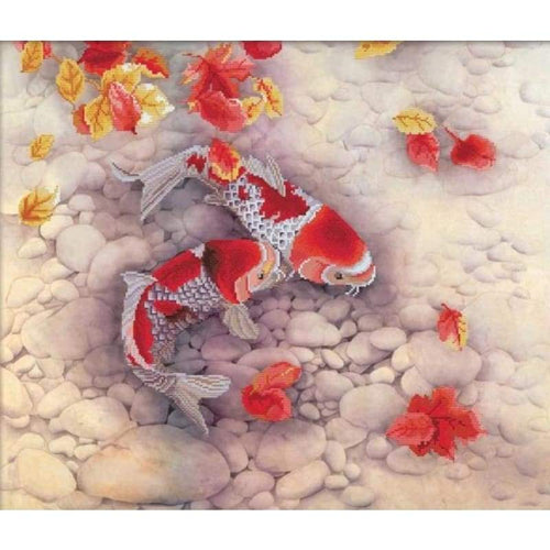 Koi Carp - Stamped Cross Stitch Kits
