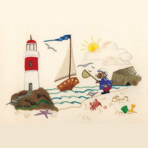 Monty Mouse By The Seaside - NEEDLEWORK KITS