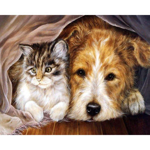 Cat Dog Diy Paint By Numbers Kits VM97866 - NEEDLEWORK KITS