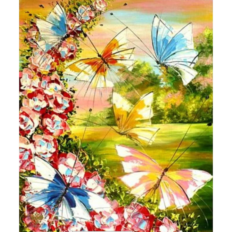 Flying Animal Butterfly Diy Paint By Numbers Kits ZXQ3775 - NEEDLEWORK KITS