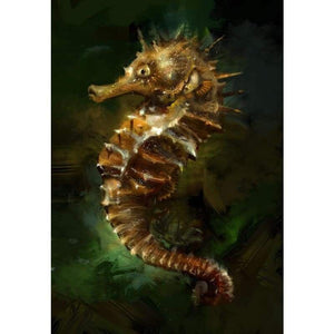 Seahorse Diy Paint By Numbers Kits QFA90065 - NEEDLEWORK KITS