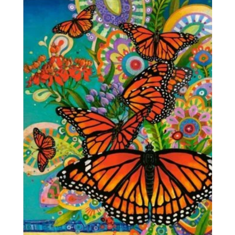 Flying Animal Butterfly Diy Paint By Numbers Kits ZXQ2331 - NEEDLEWORK KITS