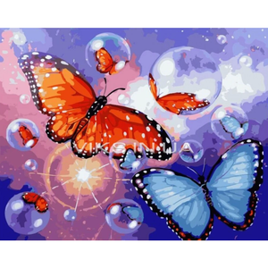 Butterfly Diy Paint By Numbers Kits PBN95233 - NEEDLEWORK KITS