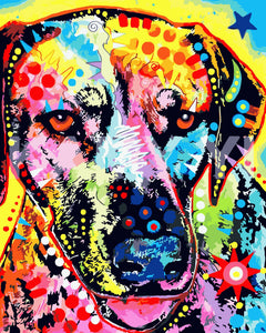 Pop Art Dog Diy Paint By Numbers Kits WM-007-1688 - NEEDLEWORK KITS