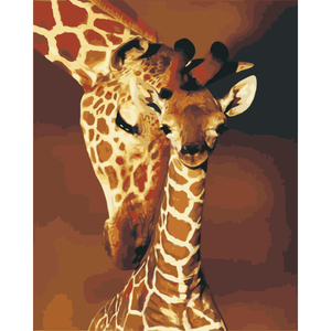 Giraffe Diy Paint By Numbers Kits WM-1349 - NEEDLEWORK KITS