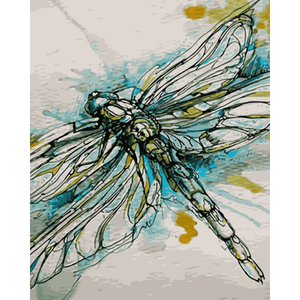 Dragonfly Diy Paint By Numbers Kits WM-1594 - NEEDLEWORK KITS