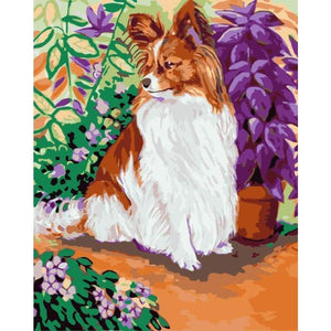 Dog Diy Paint By Numbers Kits WM-1760 - NEEDLEWORK KITS