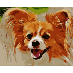 Cute Dog Diy Paint By Numbers Kits WM-261 - NEEDLEWORK KITS