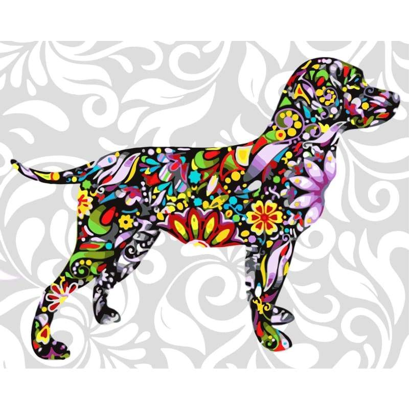 Color Dog Diy Paint By Numbers Kits WM-538 - NEEDLEWORK KITS