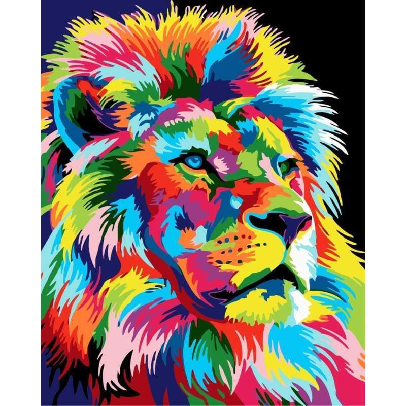 Lion Diy Paint By Numbers Kits WM-592 - NEEDLEWORK KITS