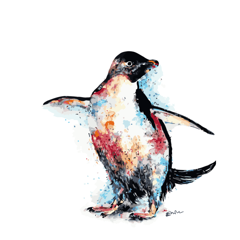 Penguin Diy Paint By Numbers Kits WM-752 - NEEDLEWORK KITS