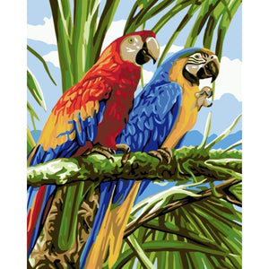 Parrot Diy Paint By Numbers Kits WM-912 - NEEDLEWORK KITS