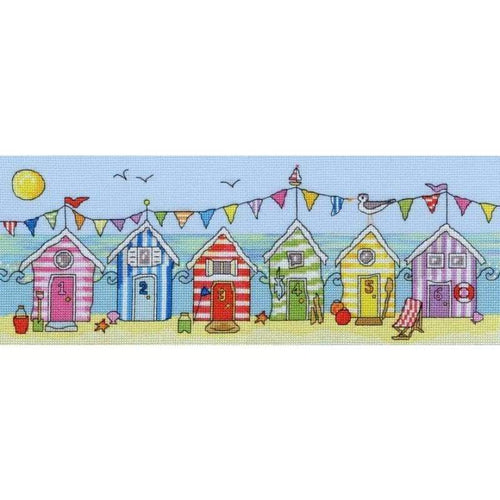 Beach Hut Fun - Cross Stitch