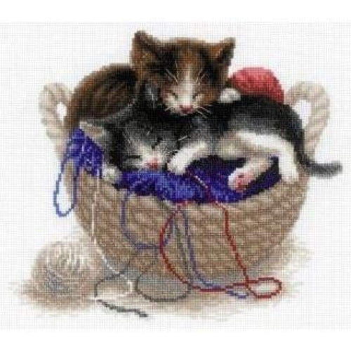 Kittens In A Basket - NEEDLEWORK KITS