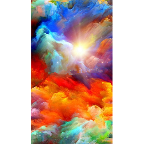 5D DIY Diamond Painting Kits Abstract Colorful Space Sky - L2