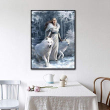 Load image into Gallery viewer, Full Drill - 5D DIY Diamond Painting Kits Winter Beauty And Animal Wolf - NEEDLEWORK KITS