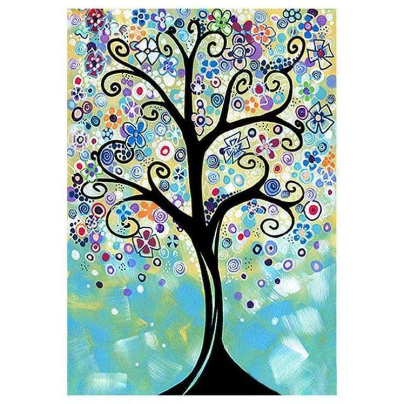 5D DIY Diamond Painting Kits Cartoon Styles Tree - 4