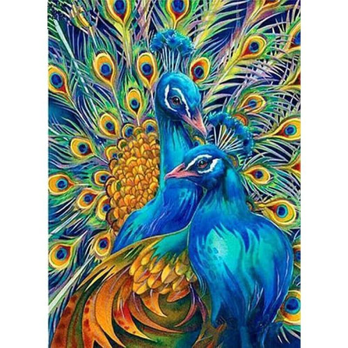 5D DIY Diamond Painting Kits Bedazzled Special Colorful Peacocks - 444