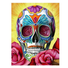 Load image into Gallery viewer, Full Drill - 5D DIY Diamond Painting Kits Colorful Flower Skull - NEEDLEWORK KITS