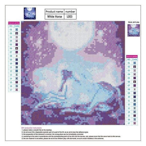 Full Drill - 5D DIY Diamond Painting Kits Colorful Dream Moon Unicorn - NEEDLEWORK KITS