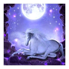Load image into Gallery viewer, Full Drill - 5D DIY Diamond Painting Kits Colorful Dream Moon Unicorn - NEEDLEWORK KITS