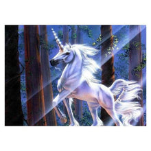 Load image into Gallery viewer, Full Drill - 5D DIY Diamond Painting Kits Colorful Dream White Unicorn - NEEDLEWORK KITS